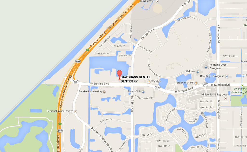 Our office is located at the Sawgrass Landings Plaza- 13713 W Sunrise Blvd. We are in Suite #205